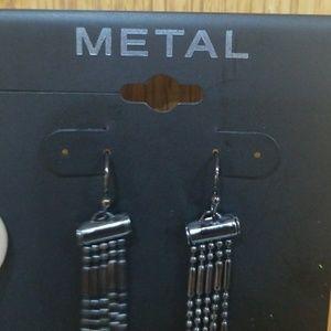METAL Jewelry - METAL Long Dangle Earrings